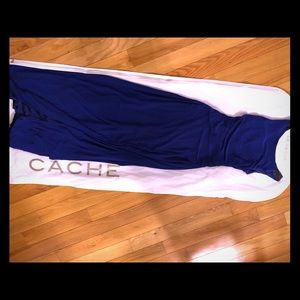 Cache blue gown with split